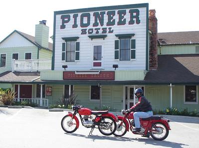 50's Italian bikes in Woodside, CA