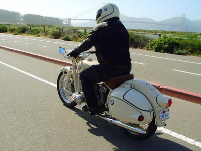 My and my 59 BMW R50, Crissy Field, SF
