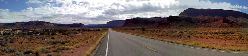 My LG cell-phone pano of the middle of nowhere, Utah!