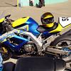 David's very nice SV650 racer.