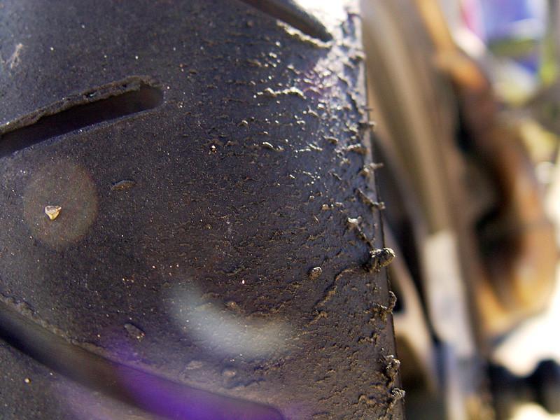 Marc's rear tire on the Hypermotard.  :)