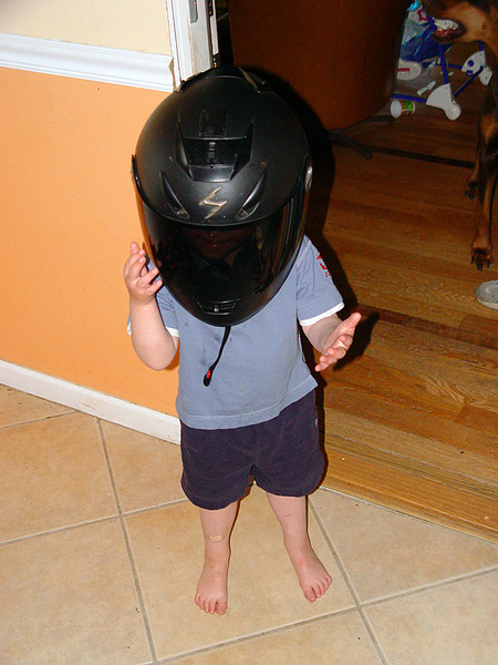My 3 year old nephew, Aaron, as the black power ranger!  :)