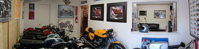 Superwide shot of Moto Guzzino entryway