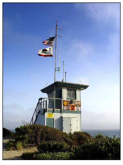 Point Dume Lifeguard Tower.