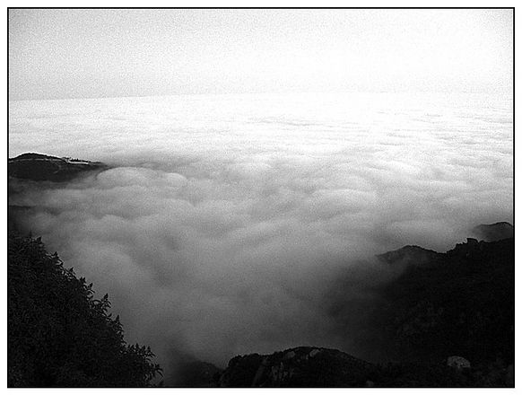 """Beneath all that fog is """"downtown"""" Malibu (taken from the top of Piuma Rd.)."""
