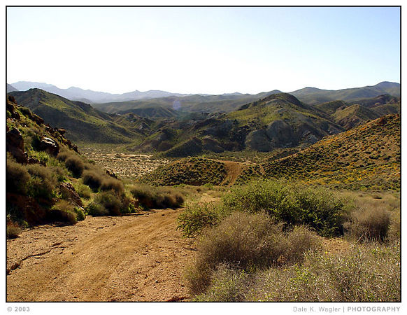 Another view of Jawbone, looking down over Gold Canyon Rd.