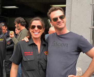 Paul & a lovely mechanic friend