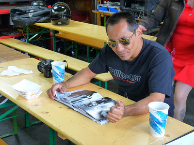 Pete checks out the cool Christina Shook photo book
