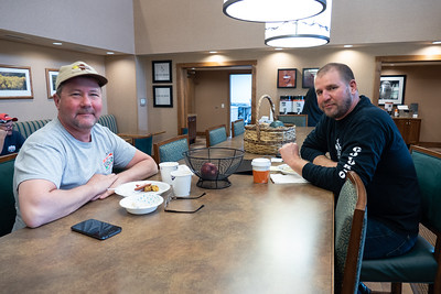 Breakfast at the hotel in Riverton, Wyoming