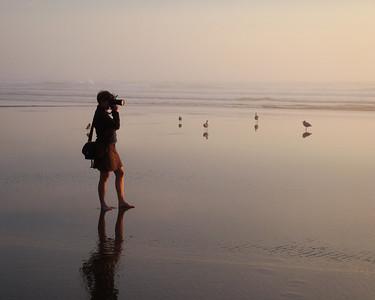 Barefoot photographer, my daughter.