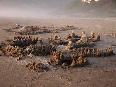 A cool sand castle on Manzanita beach.