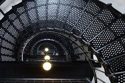 Looking up the lighthouse tower.