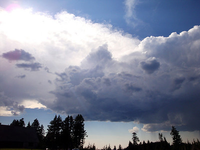 Storm clouds over Crater Lake.