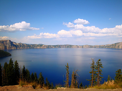 Crater Lake, Oregon. For reasons I won't go into now, I have flown over Crater Lake more or less 500 times. I've always wanted to drive around here. This was my chance.