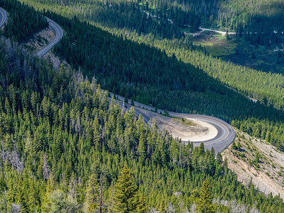 Beartooth Highway north and east from the pass