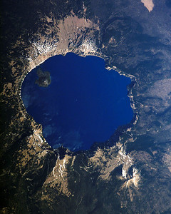 Crater Lake: The bike I ride is a rocket ship but this is ridiculous! Actually a NASA Photo.