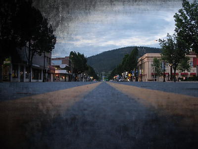 Coleville, WA - Saturday evening - Sidewalks all rolled up at 8:00 PM