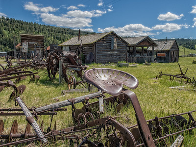 Molson Ghost Town - Near Canadian border with central Washington State, USA.