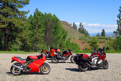 Twisp, WA Free range motorcycles.