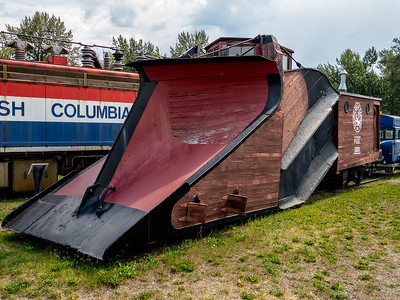 Prince George: There's a neat BC Rail museum where we spent some time walking around and through some old trains. In the winter, there's a lot of snow in this high country and the tracks had to be plowed by rail snow plows like this one.