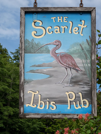 On the way back from the beach ... maybe 35 miles from the water, maybe 35 miles from Port Hardy, there was this pub along the dirt road in absolutely the middle of nowhere. Since we had no schedule and nowhere to be, we stopped for a pint ... or two.