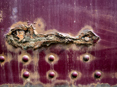 Prince George: There's a neat BC Rail museum where we spent some time walking around and through some old trains. Very cool.  This is another detail of the rusted side of one of the locomotives.