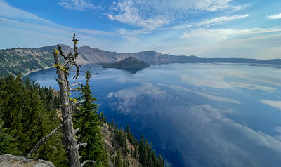 Crater Lake - Elevation ~ 6,000 feet