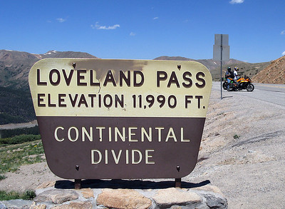 Our highest pass over the continental divide.
