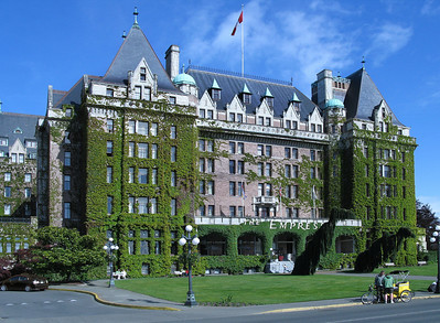 Victoria - Empress Hotel: The oldest hotel in Victoria ... very prestigious ... very expensive ... we enjoyed it from afar.