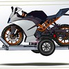 Trailer with KTM