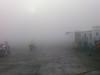 a bit foggy and smokey
