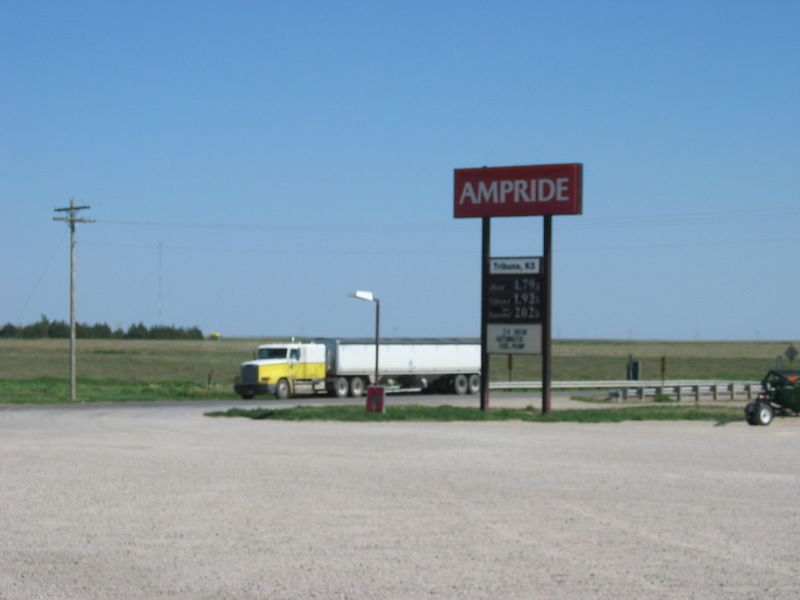 One of the many gas stops in Kansas.