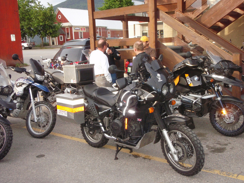 Start of the ride in Nakusp, BC