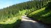 Steep single lane climbing to 7,000 ft