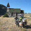 Fishnbiker at old church on East Thompson road. One more road crossed off my Bucket List