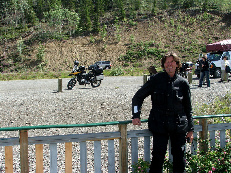 Jim at Yukon River, Yukon Territory