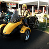 Patrick and his cool Can Am Spyder at the BMW MOA Rally- wait a minute that's not a BMW so what's he doing there?