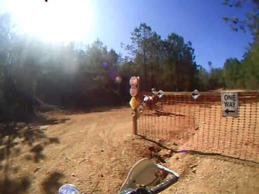 Kim's crash on the perimeter trail on his virgin run