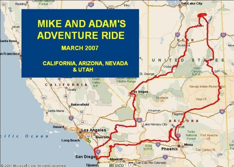 My new buddy Adam Cruickshank and I decided to embark on a 2 week dirt ride in the deserts of the southwestern U.S., seeking scenery, adventure, and good food. Here's what happened...