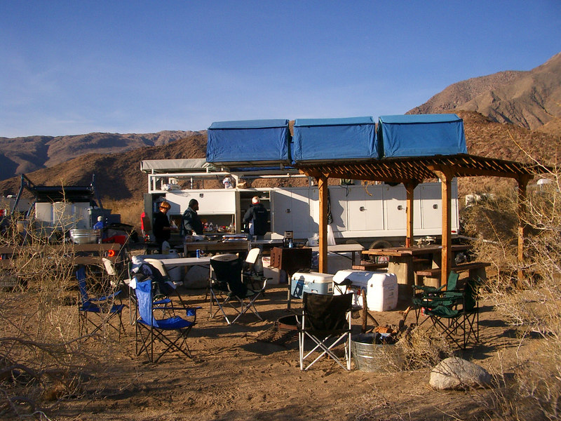 Here was base camp for three days. Good meals and campfire chats with a bunch of great guys.