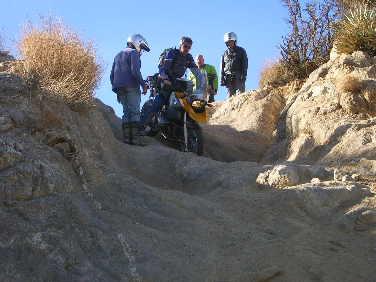 Michael, an experienced off road racer, kindly offered to take my bike down this for me... it scared the s#*t out of me.