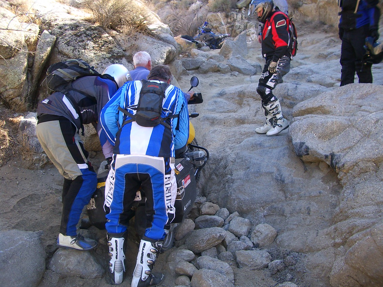 Even a riding instructor like Jim needed help here.