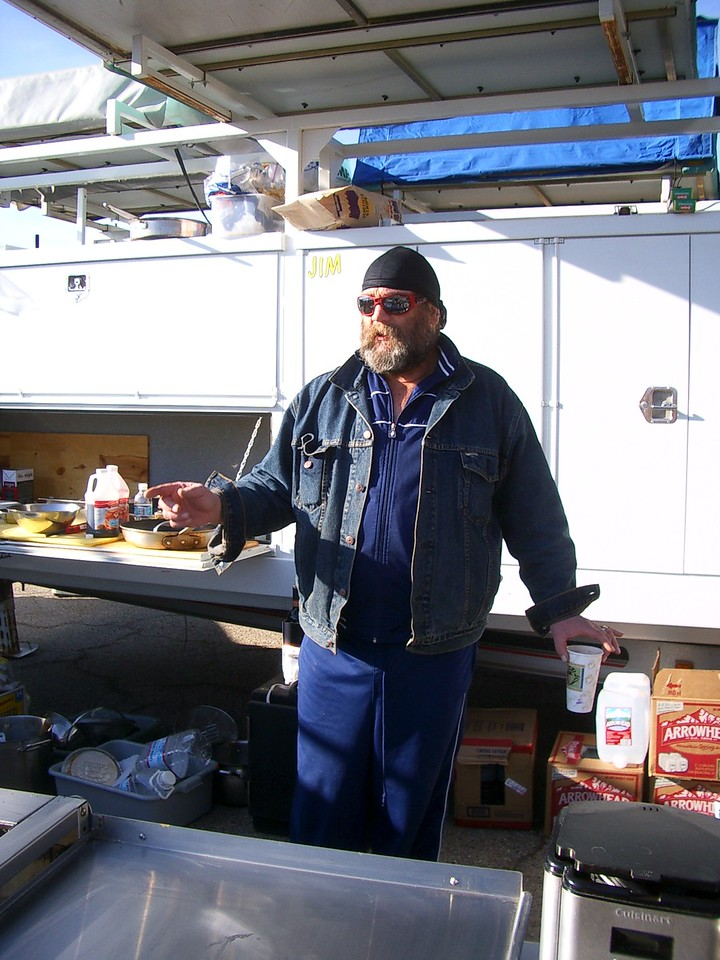 Bruce, our chef. Also a former Hells Angel.