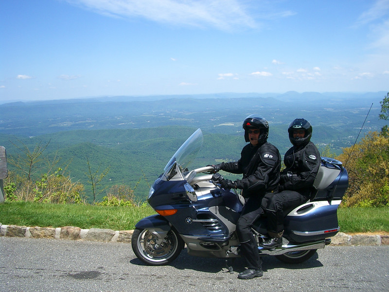 Phil and Annette on the 1200LT.