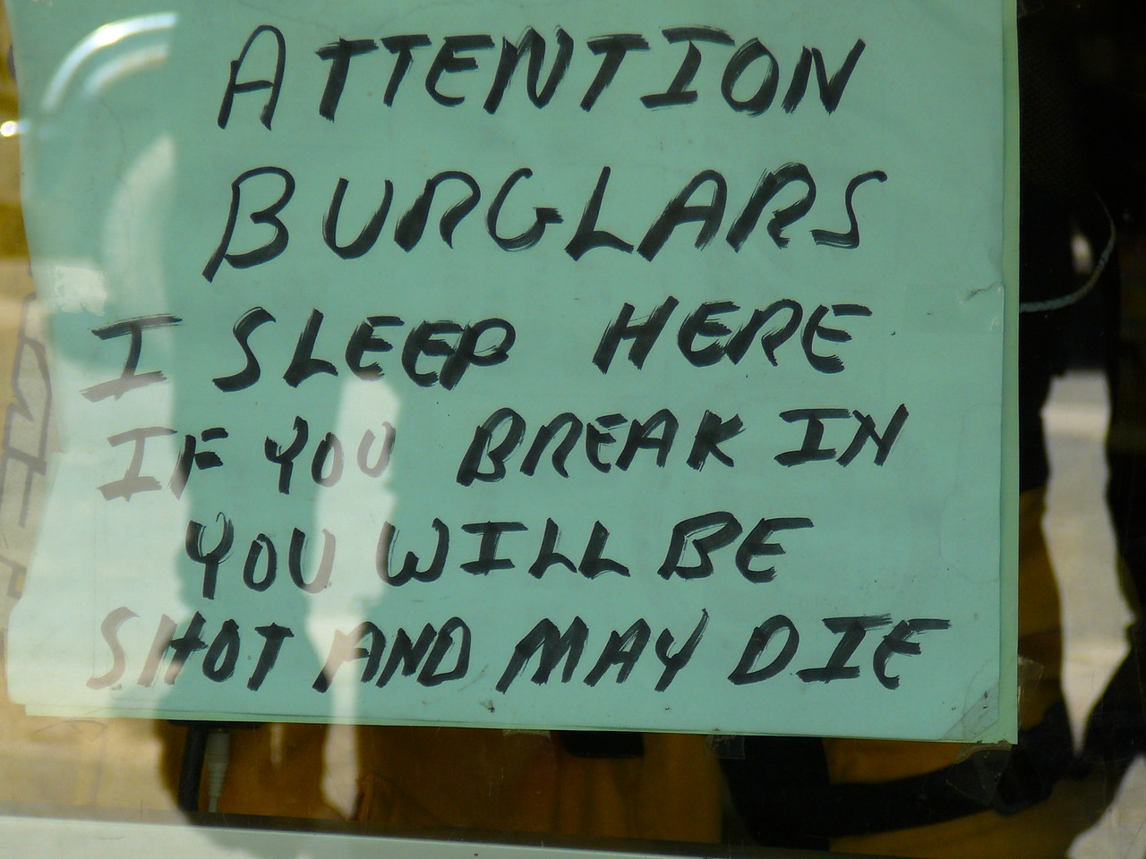 Interesting theft deterrent system in use here!