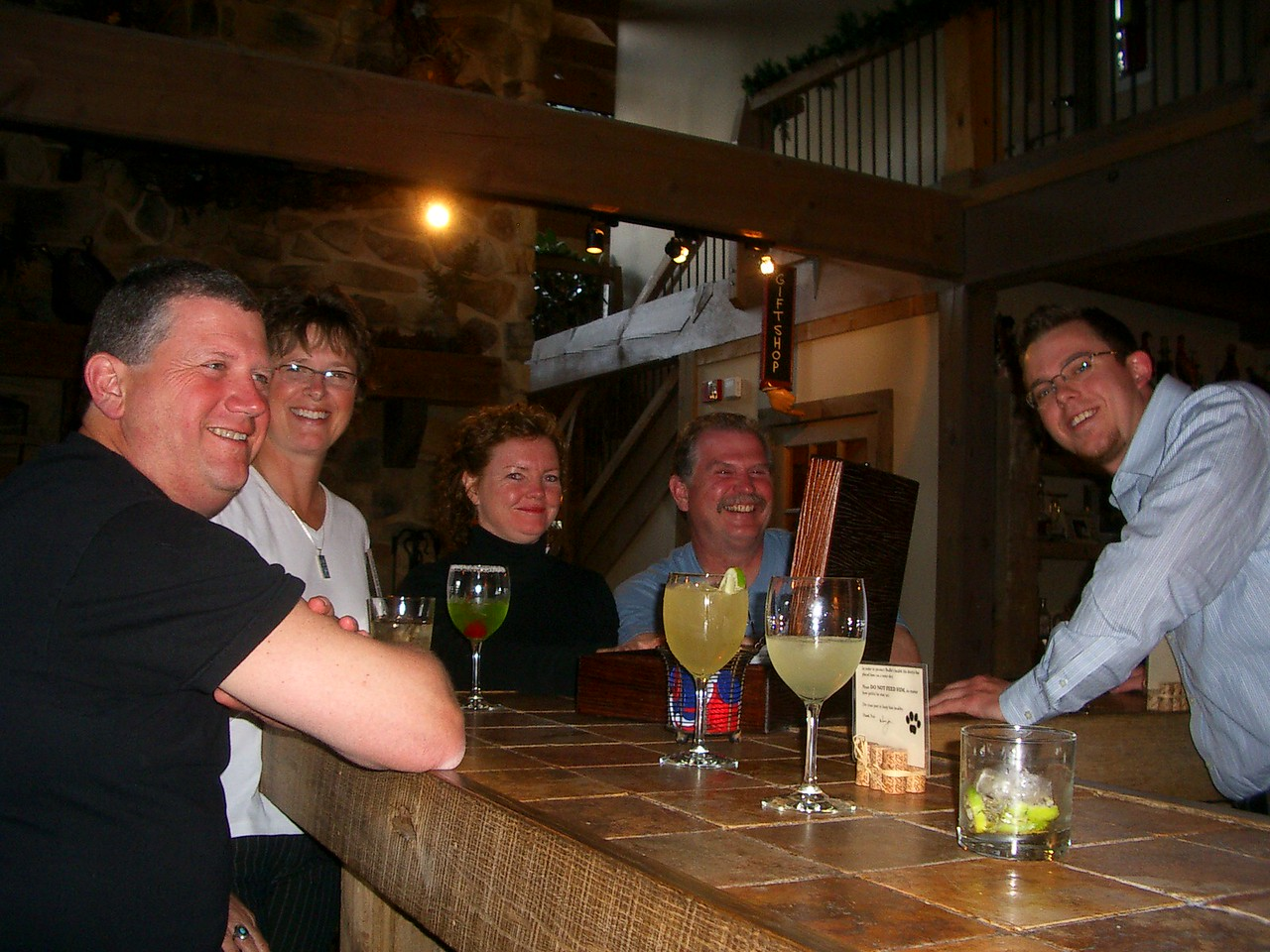 The start of too many Margaritas, aided by bartender (and ex-roadracer) Lee.