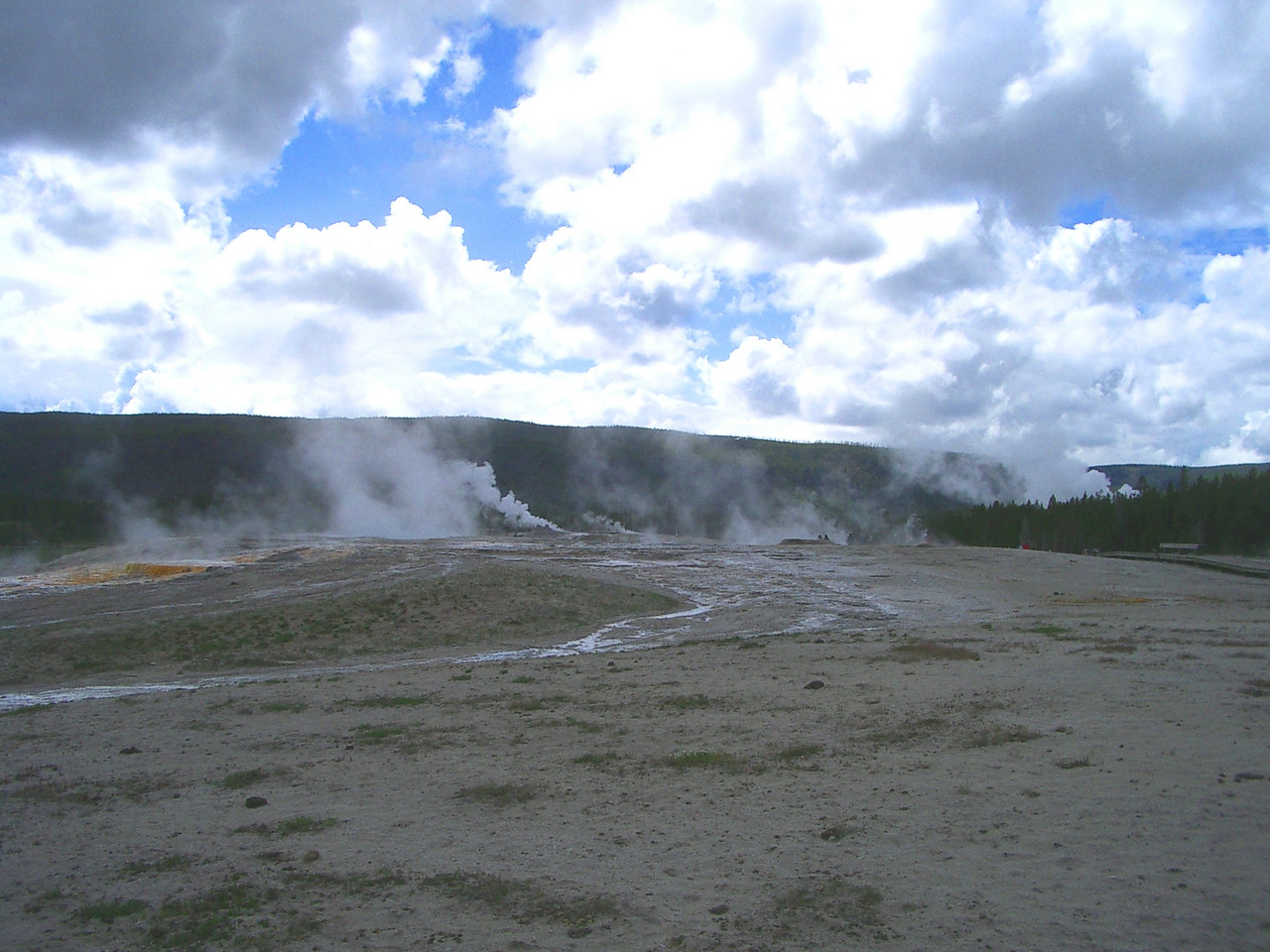 There were maybe 100 geysers and hot springs in the area.
