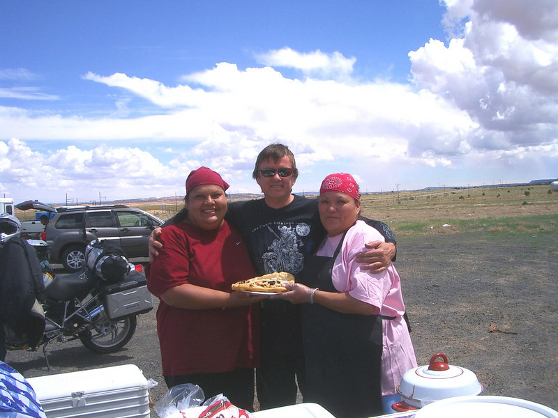 I got a Navajo hug too. They then asked for my number in Toronto. I told them I'd get back to them.