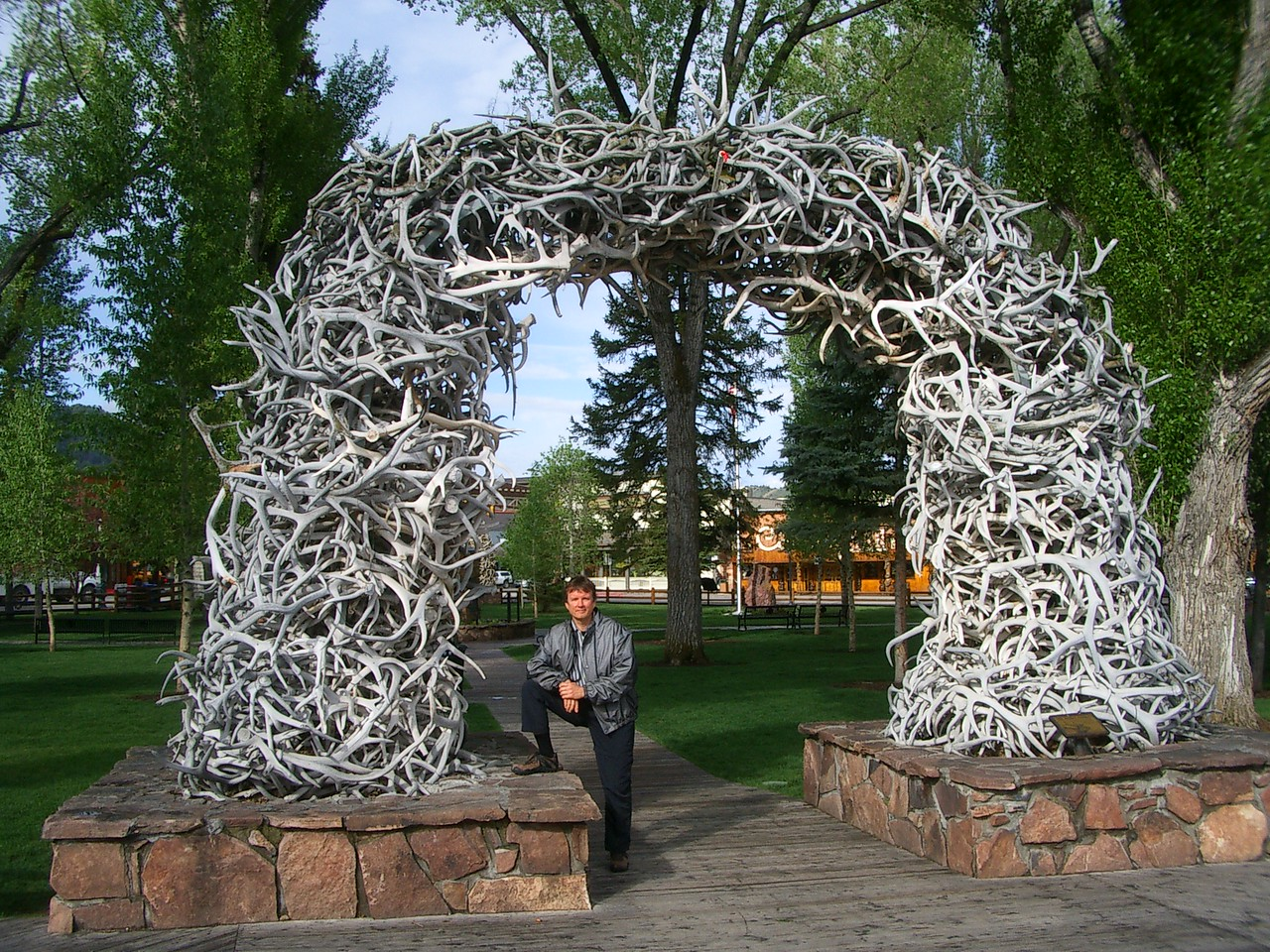 Here is a testimony to the number of elk in the area. This was one of four such entrances to the town square.