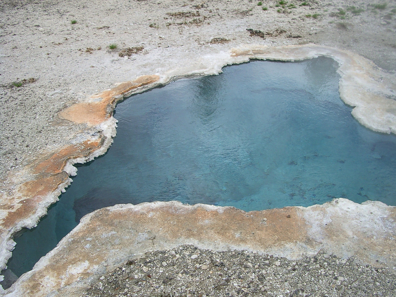 This looked like an inviting hot tub for a dip, but I resisted the urge.<br /> <br /> No telling how hot it was.